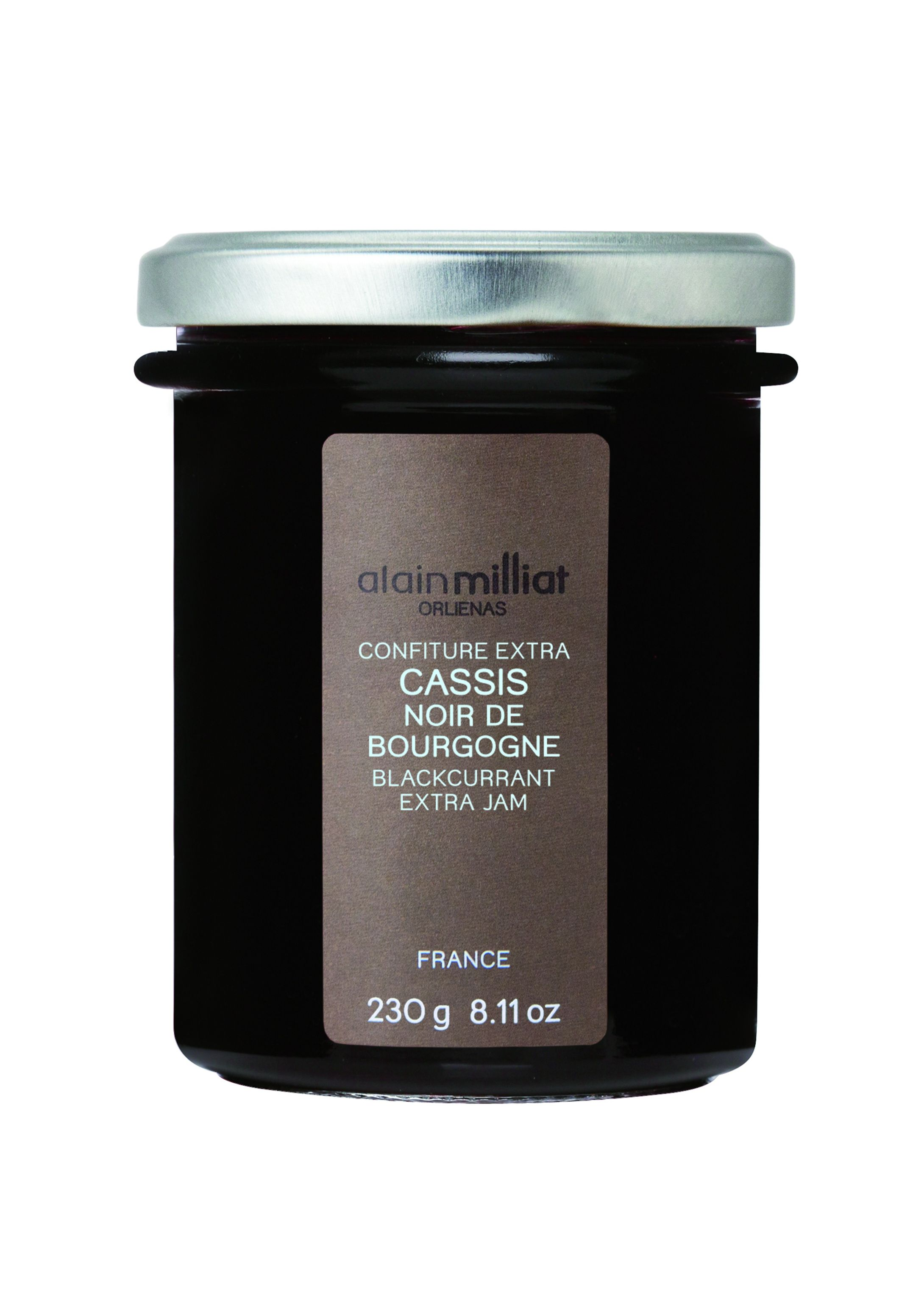 Confiture cassis 230gr Alain Milliat