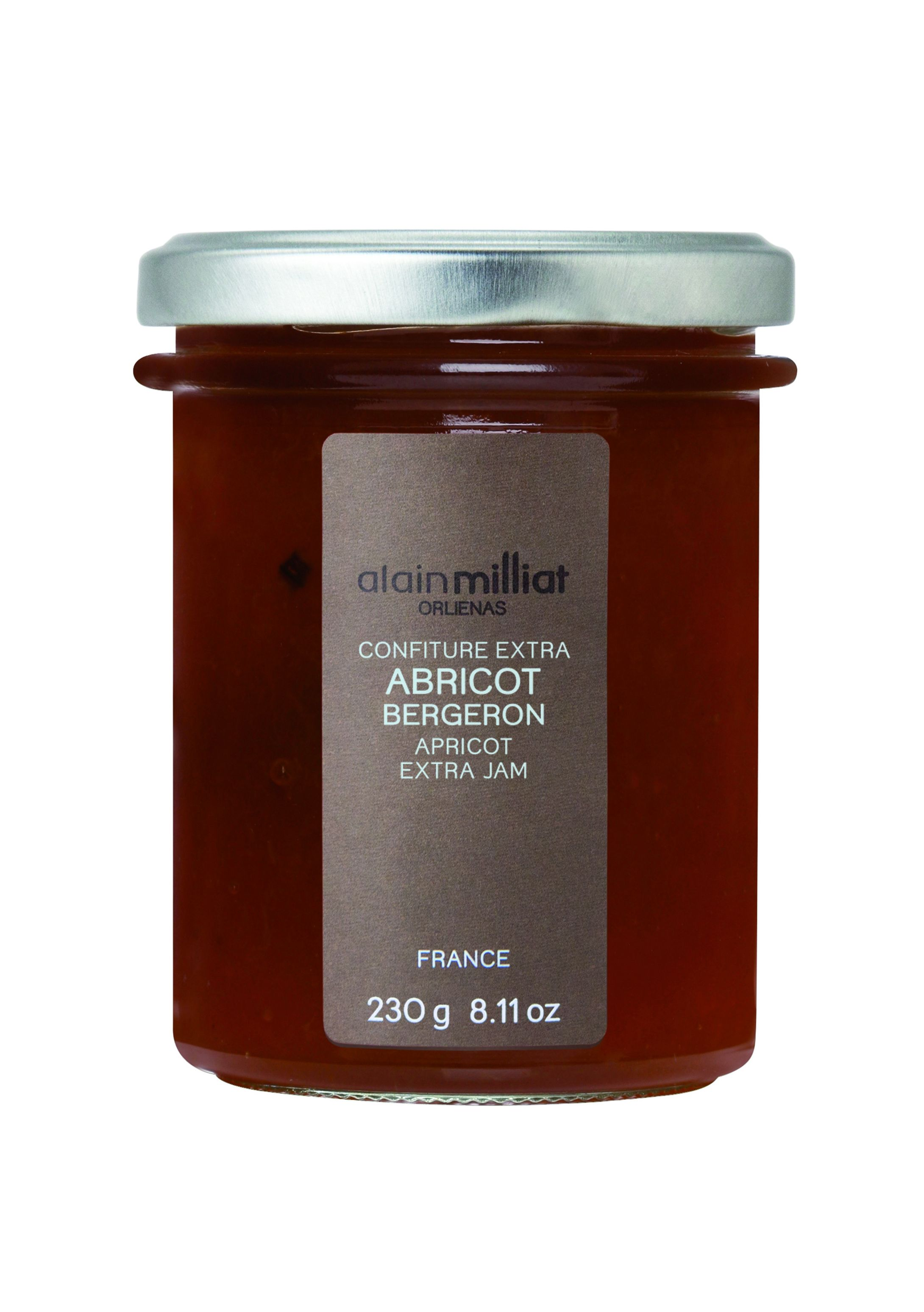 Confiture d'abricot 230gr Alain Milliat