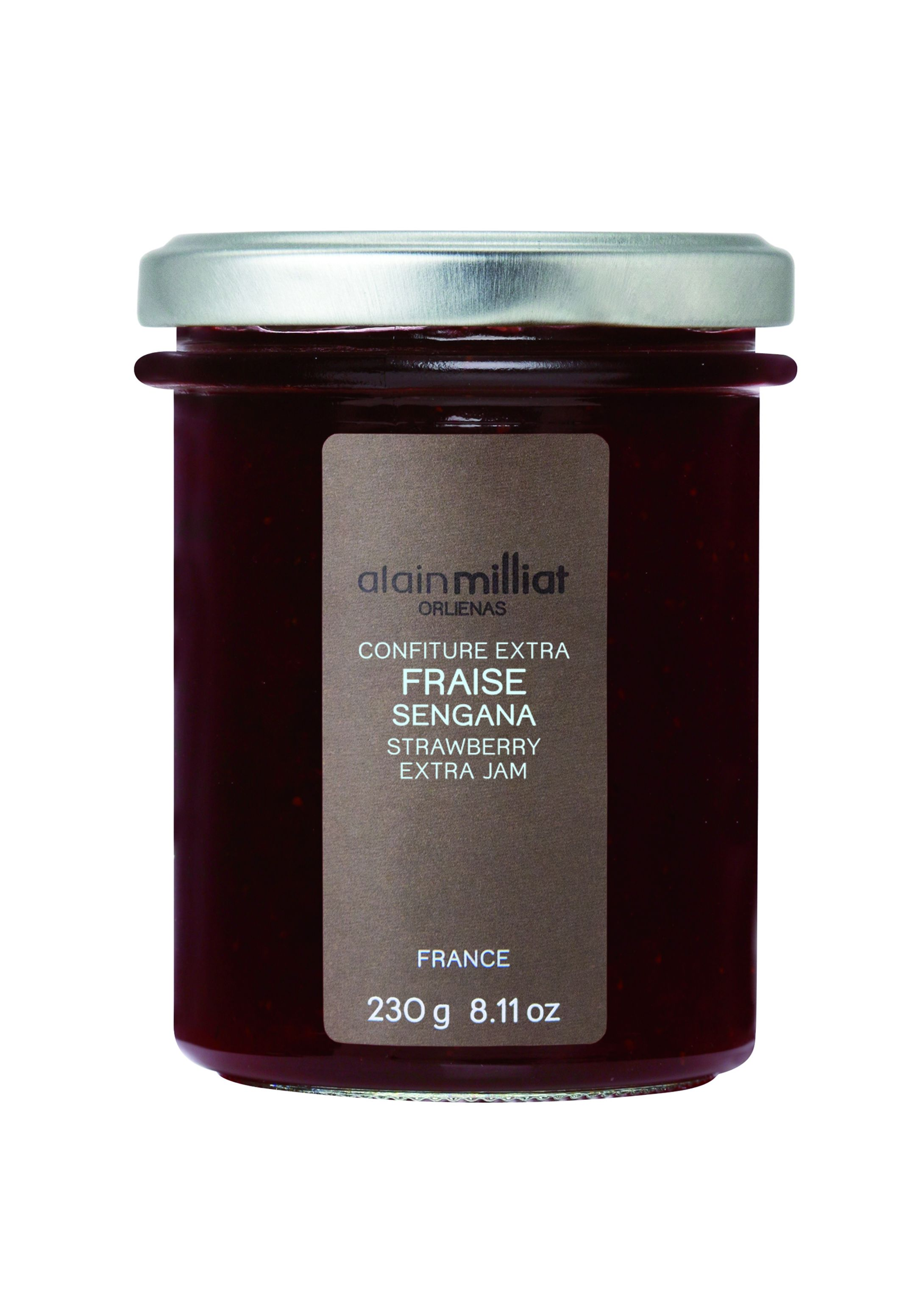 Confiture fraise 230gr Alain Milliat