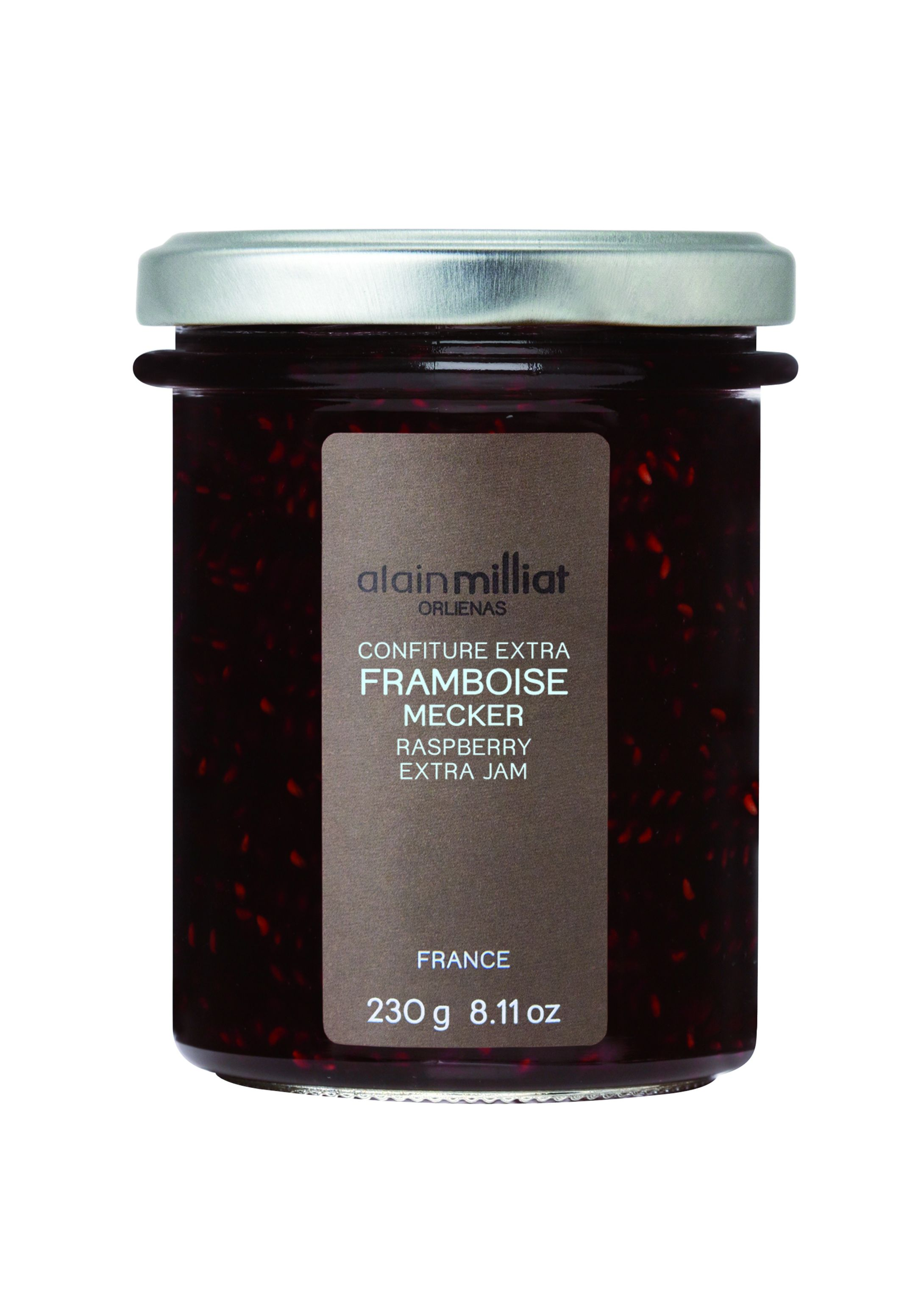 Confiture de framboise 230gr Alain Milliat